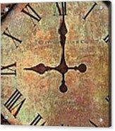 Clevedon Clock Acrylic Print by Robert Smith
