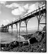 Clevedon Pier Acrylic Print by Photographer Nick Measures