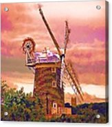 Cley Windmill 2 Acrylic Print by Chris Thaxter