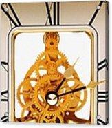 Clock Mechanism Acrylic Print by Victor De Schwanberg
