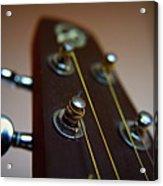 Close-up Of Guitar Acrylic Print by Image by Maistora (Vladimir Dimitroff)