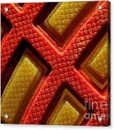 Closeup View Of Sneaker Sole Acrylic Print by Yali Shi