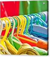 Clothes Hanging Acrylic Print by Tom Gowanlock