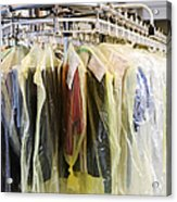 Clothing At Dry Cleaners Acrylic Print by Andersen Ross
