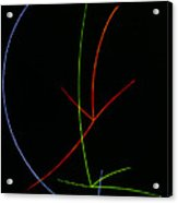 Cloud Chamber Image Showing Neutrons Acrylic Print by Lawrence Berkeley Laboratory