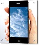 Cloud Computing Acrylic Print by Photo Researchers
