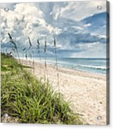 Clouds Over The Ocean Acrylic Print by Cheryl Davis