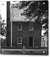 Clover Hill Tavern Guesthouse Bw Acrylic Print by Teresa Mucha