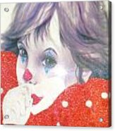 Clown Baby Acrylic Print by Unique Consignment