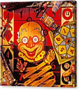 Clown Toy And Old Playthings Acrylic Print by Garry Gay