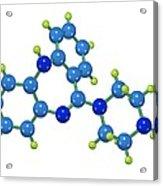 Clozapine Antipsychotic Drug Molecule Acrylic Print by Dr Mark J. Winter