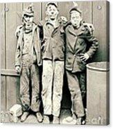 Coal Breaker Boys 1900 Acrylic Print by Padre Art