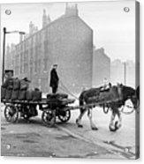 Coalman And Cart Acrylic Print by Albert McCabe