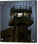 Cob Speicher Control Tower Acrylic Print by Terry Moore