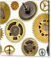 Cogwheels - Gears Acrylic Print by Michal Boubin