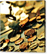 Coins Acrylic Print by HD Connelly