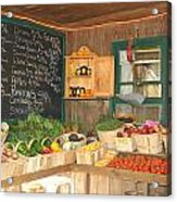 Colby Farm Stand Produce Acrylic Print by Kristine Patti