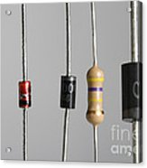 Collection Of Electronic Components Acrylic Print by Photo Researchers
