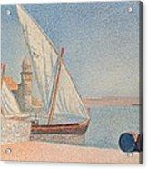 Collioure Les Balancelles Acrylic Print by Paul Signac