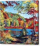 Color Rich Harriman Park Acrylic Print by David Lloyd Glover