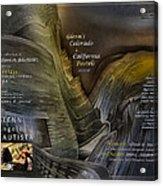 Colorado-california Art Book Cover2 Acrylic Print by Glenn Bautista