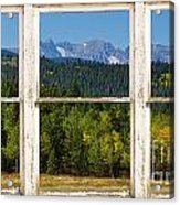Colorado Indian Peaks Autumn Rustic Window View Acrylic Print by James BO  Insogna