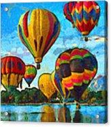 Colorado Springs Hot Air Balloons Acrylic Print by Nikki Marie Smith