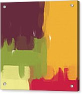 Colorblock Winter Acrylic Print by Heidi Smith