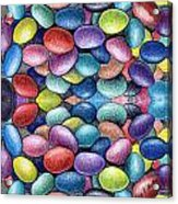 Colored Beans Design Acrylic Print by Nancy Mueller