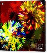 Colorful Blade Acrylic Print by Atiketta Sangasaeng