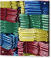 Colorful Clothes Hangers Acrylic Print by Skip Nall