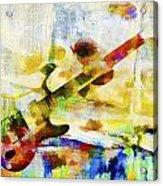 Colorful Music Acrylic Print by David Ridley