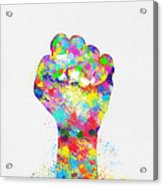 Colorful Painting Of Hand Acrylic Print by Setsiri Silapasuwanchai
