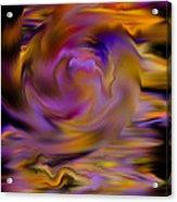 Colourful Swirl Acrylic Print by Hakon Soreide