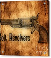 Colt Revolvers Acrylic Print by Cheryl Young