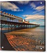 Colwyn Pier Acrylic Print by Adrian Evans
