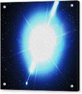 Computer Artwork Of A Gamma Ray Burst Acrylic Print by Greg Baconnasa