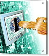 Computer Security Acrylic Print by Victor Habbick Visions