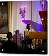 Concert Pianist Awadagin Pratt Performs Acrylic Print by Everett
