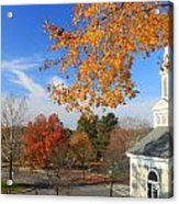 Concord Massachusetts In Autumn Acrylic Print by John Burk