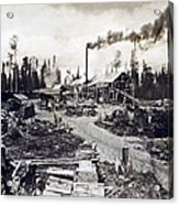 Concord New Hampshire - Logging Camp - C 1925 Acrylic Print by International  Images
