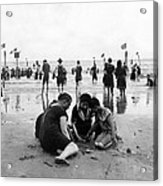 Coney Island Beach Goers - C 1906 Acrylic Print by International  Images