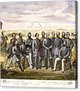 Confederate Generals Acrylic Print by Granger