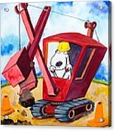 Construction Dogs 2 Acrylic Print by Scott Nelson