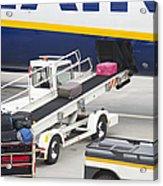 Conveyor Unloading Luggage Acrylic Print by Jaak Nilson