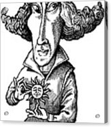 Copernicus, Caricature Acrylic Print by Gary Brown