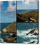 Cornwall North Coast Acrylic Print by Brian Roscorla