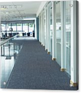 Corridor In A Modern Office Acrylic Print by Iain Sarjeant
