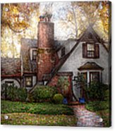 Cottage - Westfield Nj - Grandma Ridinghoods House Acrylic Print by Mike Savad