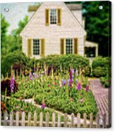 Cottage And Garden Acrylic Print by Jill Battaglia